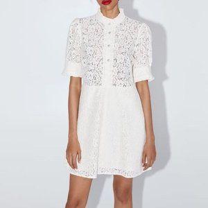 ZARA Rhinestone Button A-Line Dress